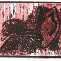 """The Inner Ear."" Relief with Collagraph."