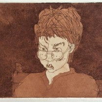 Angry Alex. Etching.