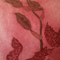 Detail: Oncidium II in red and brown