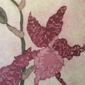 Detail: Oncidium II in violet and green